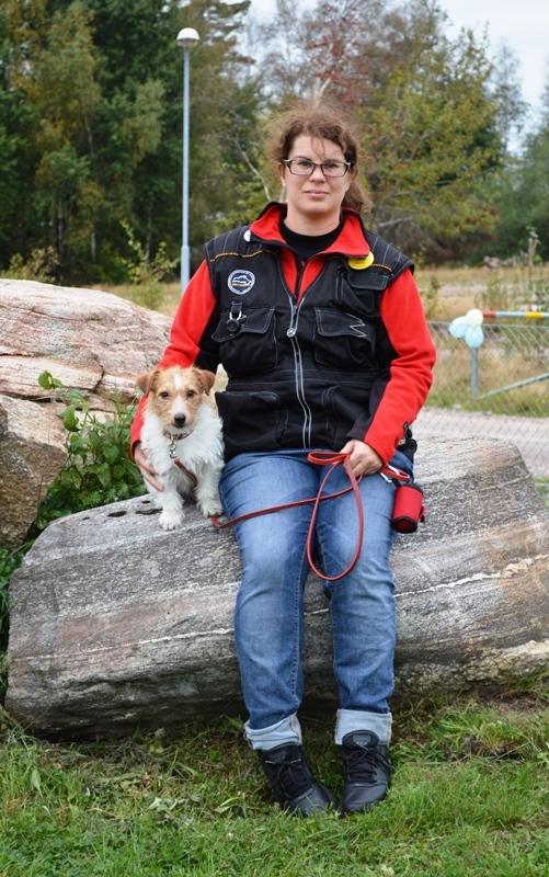 Jenny med Wilda (Bild: Brittmari U Mårtenson)